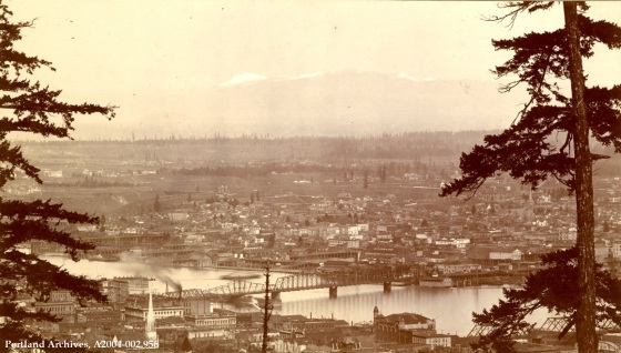 SW Portland looking northeast, circa 1895: A2004-002.956