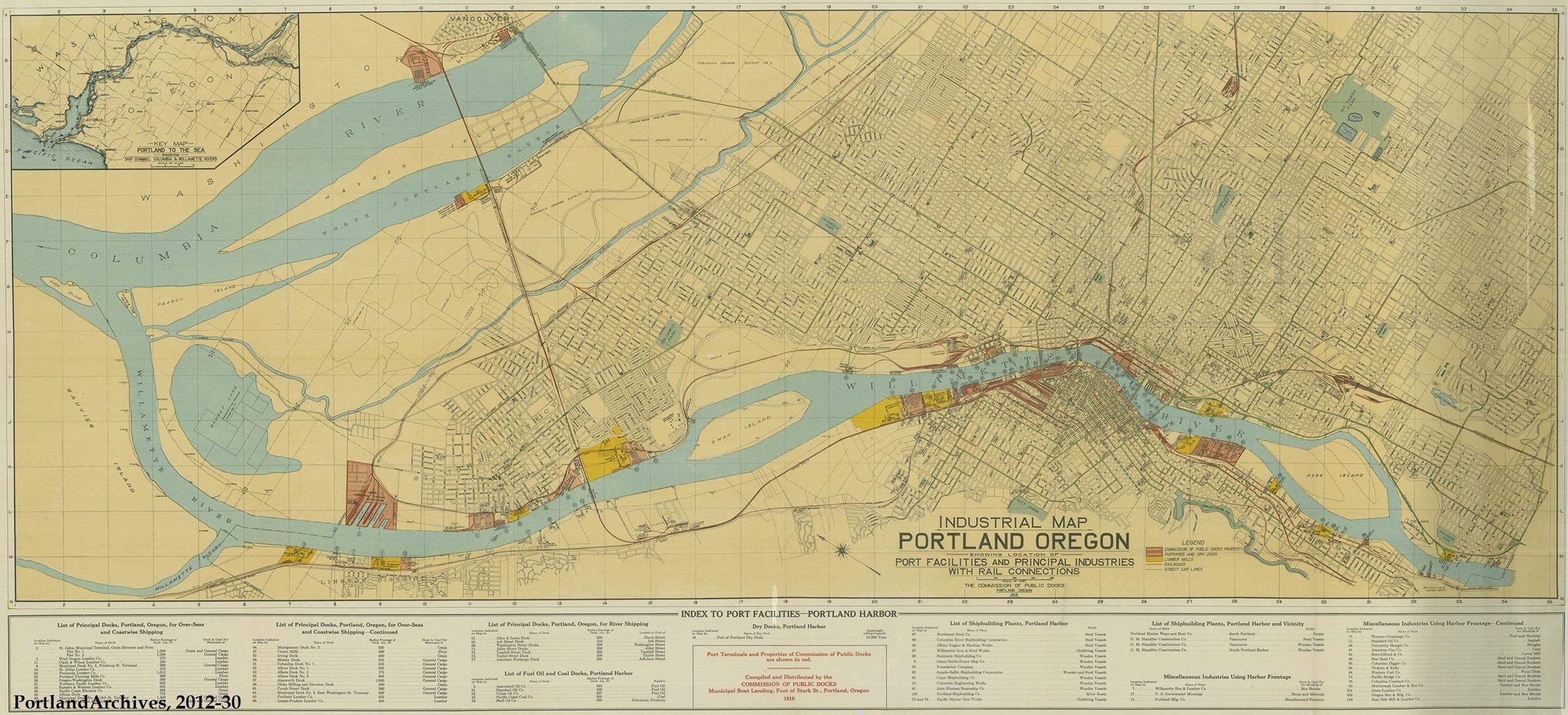 Portland Industrial Map, 1919 | Vintage Portland