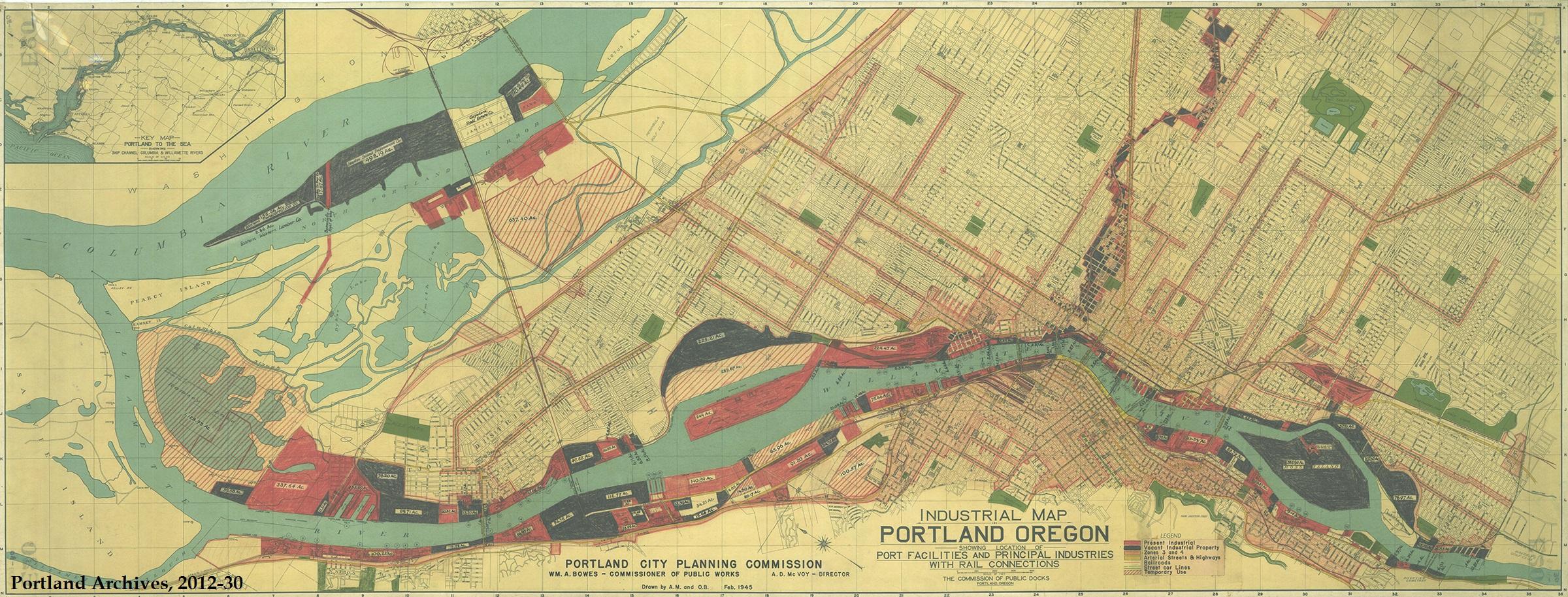 Portland Industrial Map, 1945 | Vintage Portland