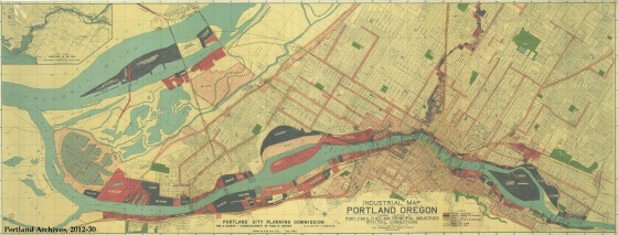 Industrial Map of Portland, Oregon, 1945 : 2012-30