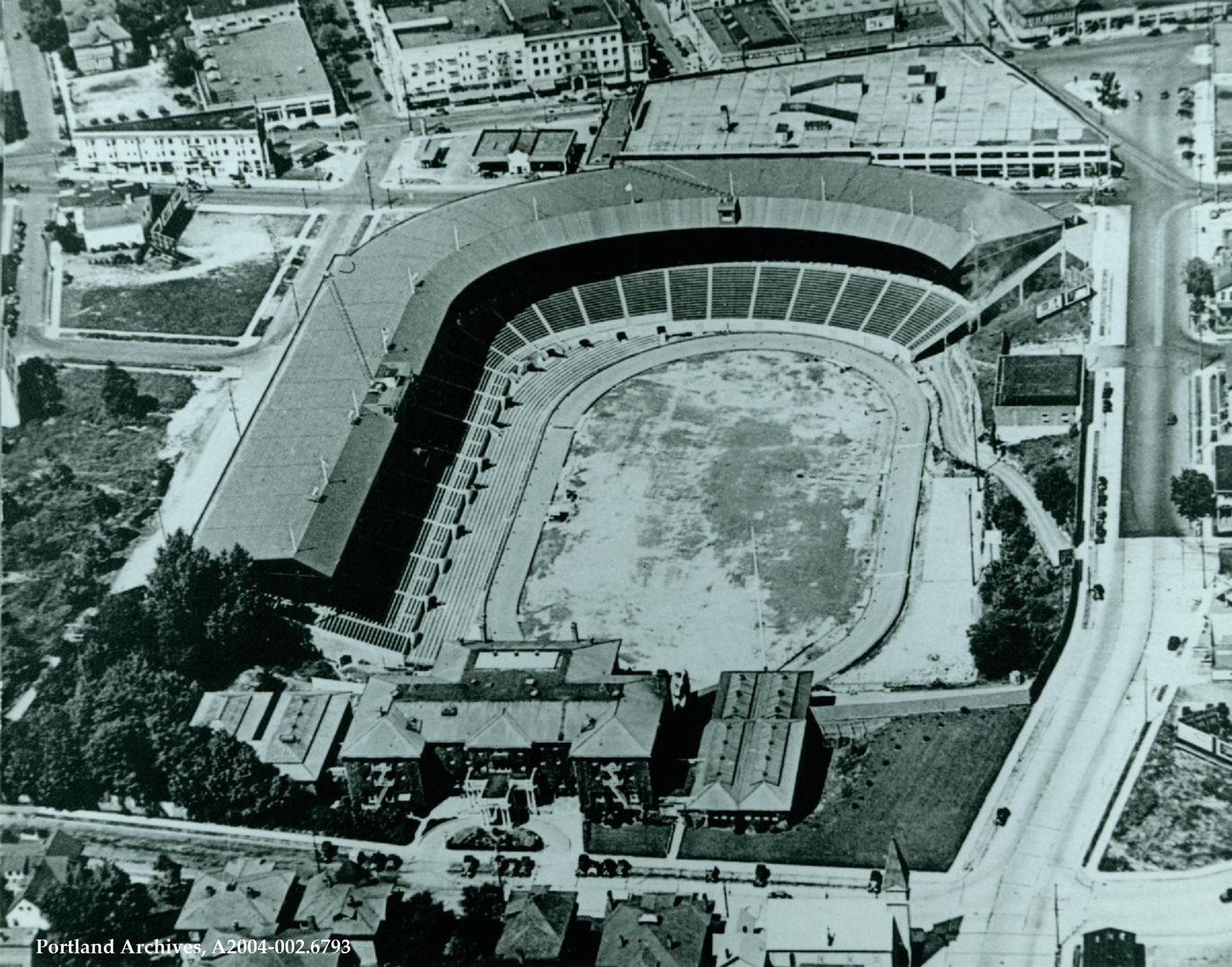 002.6793   Aerial View of Multnomah Stadium and the Multnomah Athletic Club