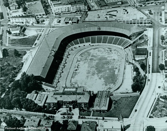 002.6793   Aerial View of Multnomah Stadium and the Multnomah Athletic Club