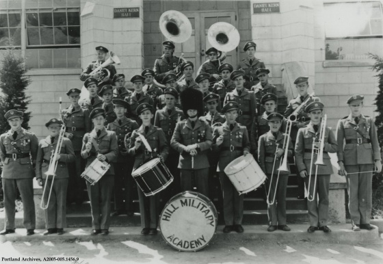 Hill Military Academy marching band, 1935: A2005-005.1456.9