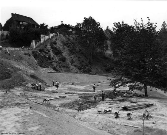 Washington Park northwest corner construction