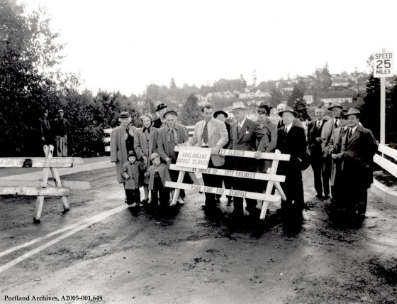 Terwilliger - Burlingame Bridge looking south, circa 1948: A2005-001.649