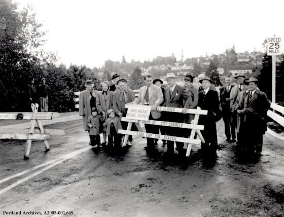 Terwilliger - Burlingame Bridge looking south, circa 1948: A2005-001.649