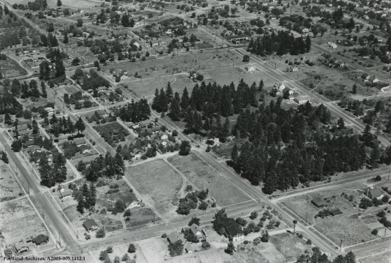 Aerial of a Portland neighborhood, 1936: A2005-005.1412.1