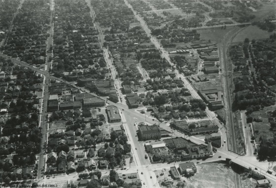 Aerial view of NE Sandy Boulevard and NE 37th Avenue, 1936: A2005-005.1401.7