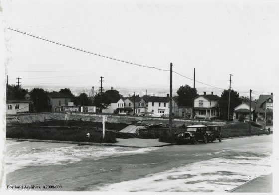 Inactive reservoir site at SW 6th Avenue and SW Lincoln Street, circa 1929: A2008-009