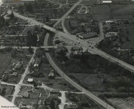 SW Barbur Blvd. and SW Multnomah Blvd., April 30, 1952: A2005-001.55