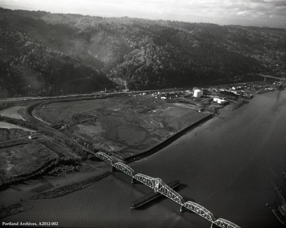 Aerial of Northwest Industrial waterfront, November 10, 1972: A2012-005