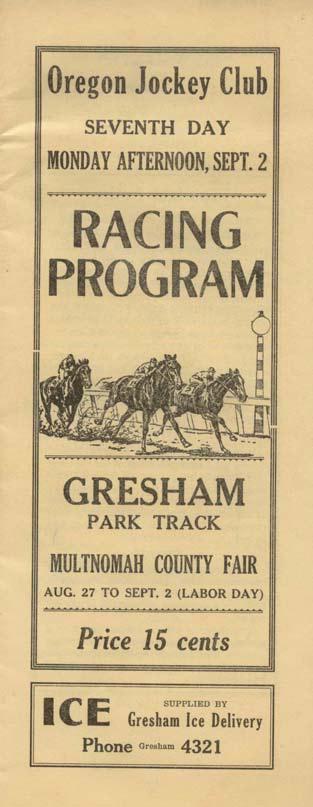 Racing Program, circa 1935