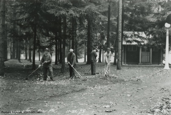 Men working at Pier Park, November 25, 1936: A2005-005.1500.1