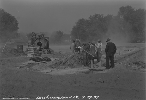 Westmoreland Park Under Construction, September 29, 1939: A2009-009.3511