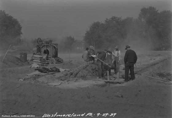 Westmoreland Park Under Construction, September 29, 1939: A2009-009.3511