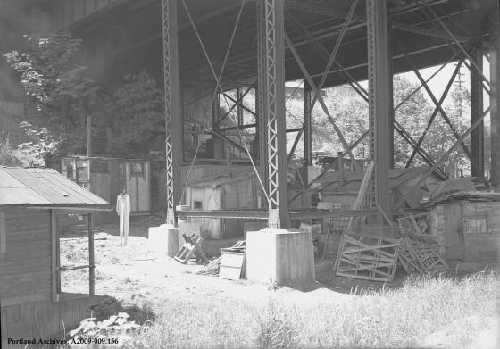 Hooverville shacks in Sullivan's Gulch, June 26, 1941: A2009-009.156