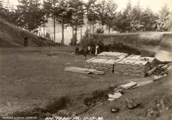 Mt Tabor Park east slope drainage construction, November 15, 1934: A2000-025