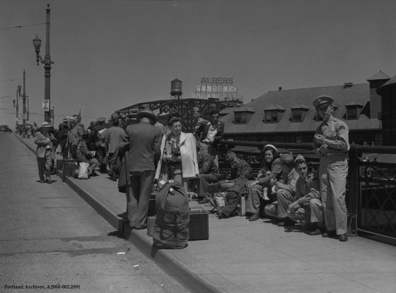 Les Ordeman photo of 1948 flood refugees, 1948: A2004-002.2091