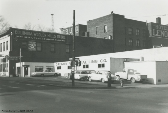 Corner of SW 2nd Avenue and SW Madison Street, 1964: A2010-003.768