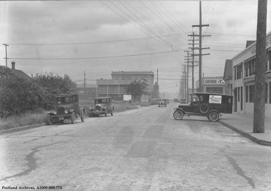 SE 7th Ave Near Main, circa 1932: A2009-009.774