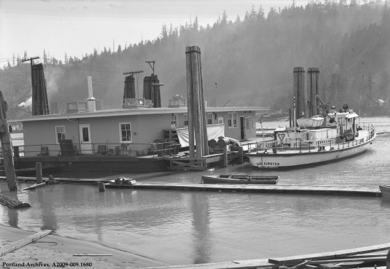 Floating fireboat station, 1938: A2009-009.1680