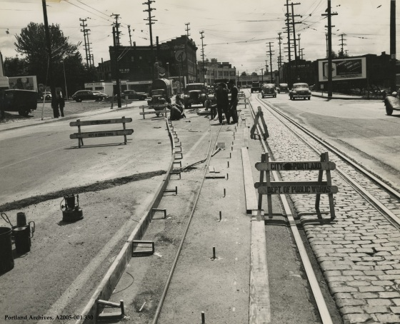 N Interstate Avenue channelization, circa 1950: A2005-001.330