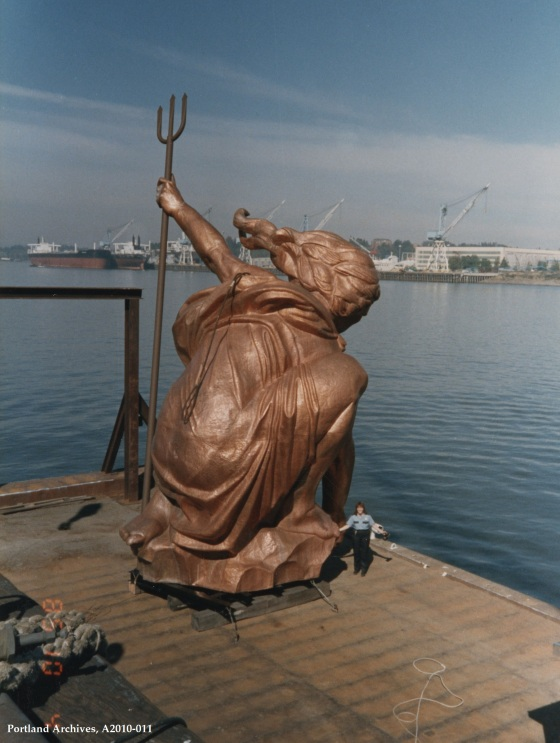 Portlandia on the barge, 1985: A2010-011