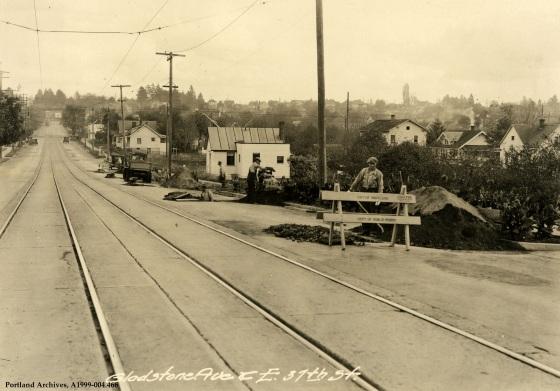 SE Gladstone Street and SE 37th Avenue sewer repair, circa 1932: A1999-004.466
