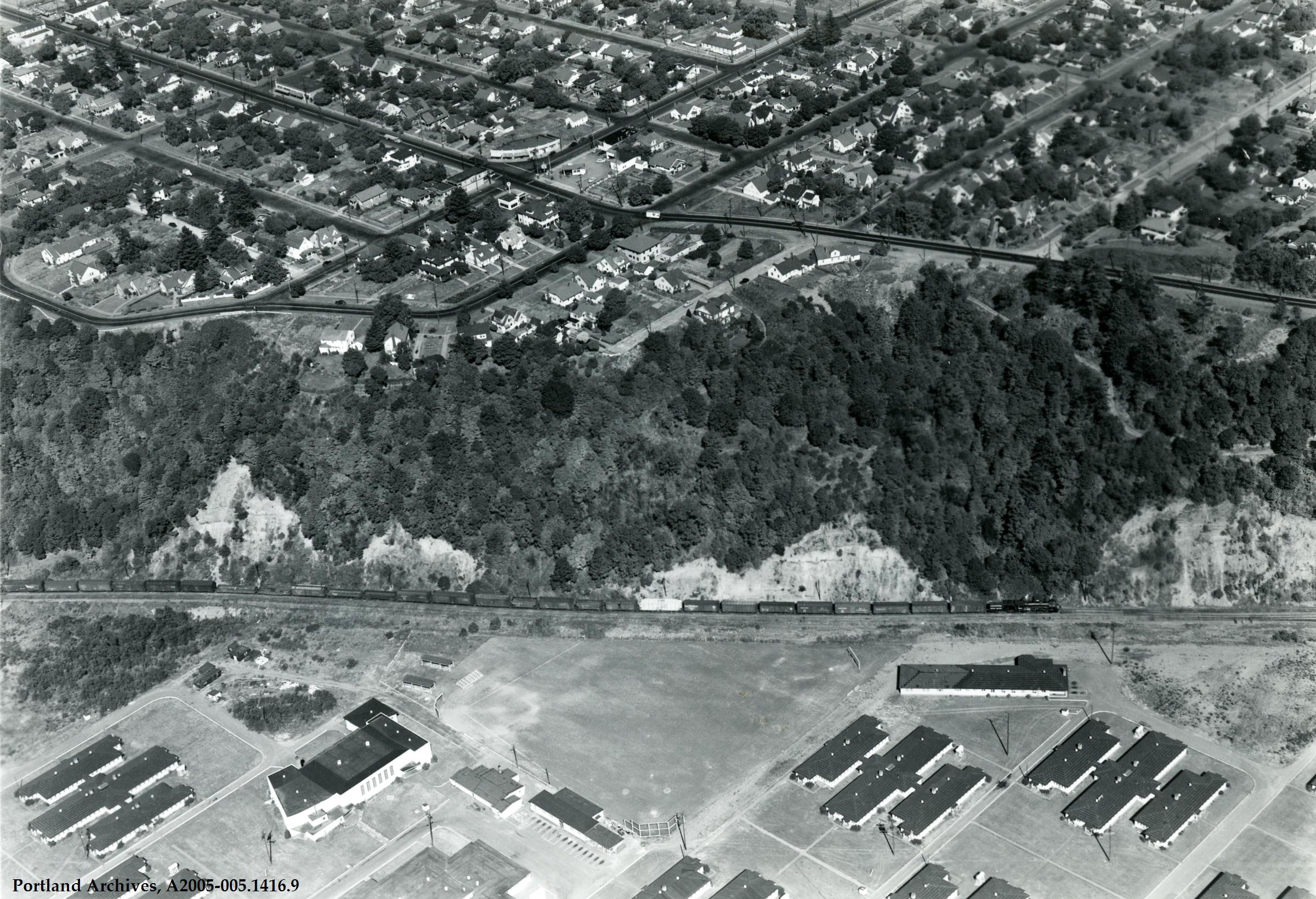 Aerial of Mocks Bottom Barrack, circa 1945: A2005-005.1416.9