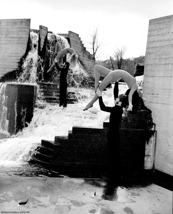 City of Portland Archives, Oregon: Dancers at Lovejoy Fountain, A2012-005, 1970