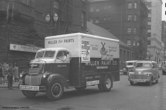 City of Portland Archives, Oregon: Miller Paint truck, A2001-083