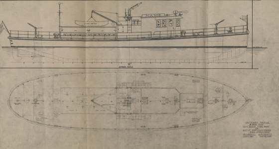 City of Portland Archives, Oregon: Plan for David Campbell Fireboat, A2001-010, 1927