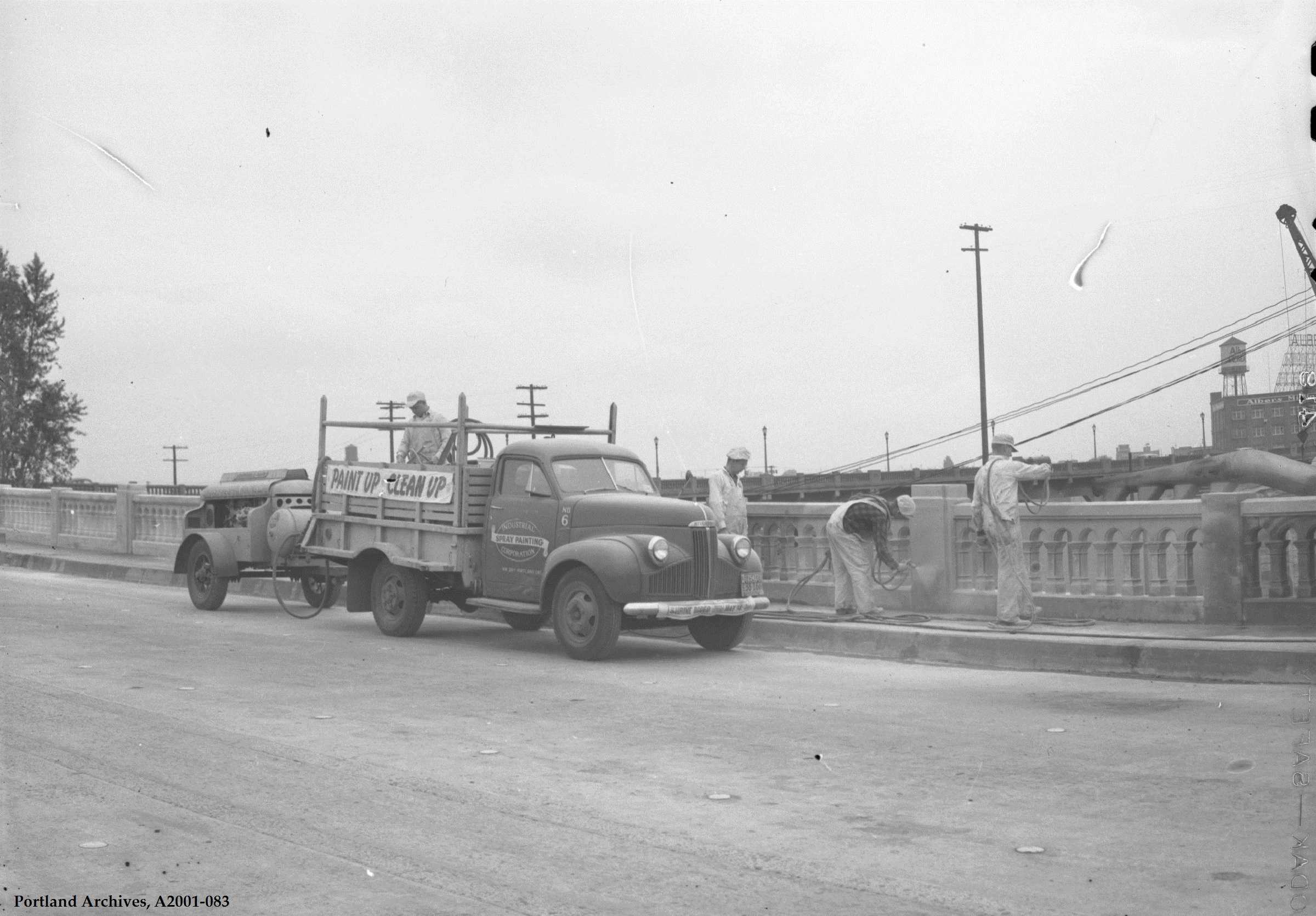 City of Portland Archives, Oregon: 10th Avenue ramp to Lovejoy Viaduct_A2001-083, 1950