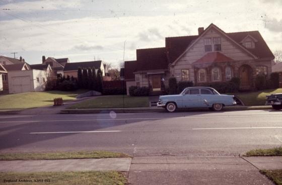 City of Portland Archives, Oregon, SE 4514 E Burnside Street near SE 45th Avenue, A2011-013, 1964