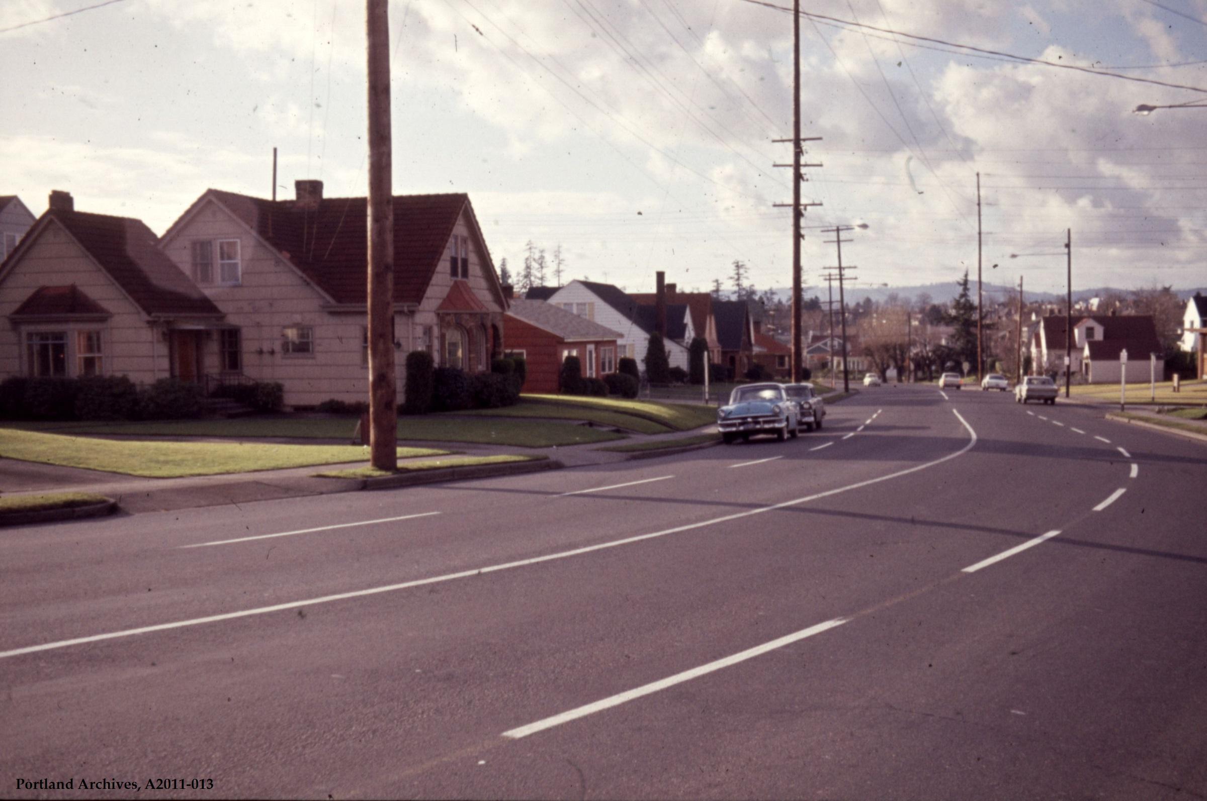 City of Portland Archives, Oregon, SE 45th Avenue near E Burnside Street, A2011-013, 1964