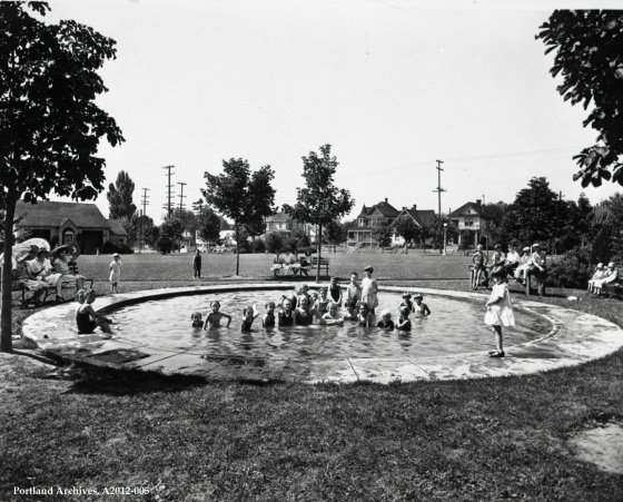 City of Portland Archives, Oregon, Unidentified wading pool, A2012-005, circa 1929