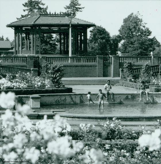 City of Portland Archives, Oregon, Peninsula Park Gazebo, A2001-030, 1979
