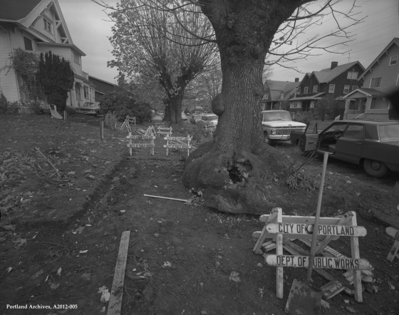 City of Portland Archives, Oregon, Sidewalk at NE 17th Ave. and NE Tillamook, A2012-005, 1969