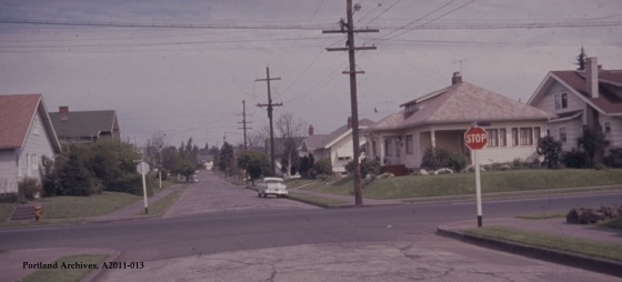 City of Portland Archives, Oregon, NE Beech St looking east from NE 15th Ave (ZC 4309), A2011-013, 1963