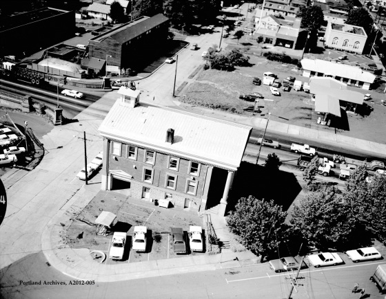 City of Portland Archives, Oregon, Aerial view of St Johns North Precinct, 2012-005, 1976.