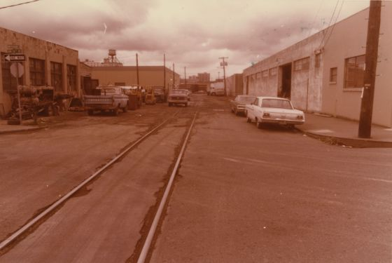City of Portland Archives, Oregon, NW Pettygrove Street at NW 14th Avenue looking east, A2001-034, 1979.