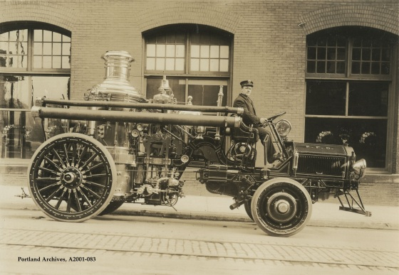 City of Portland Archives, Oregon, Engine 3, A2001-083, circa 1917.