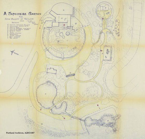 City of Portland Archives, Oregon, Plan forthe Japanese Garden, A2013-007, circa 1962