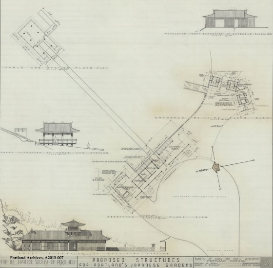 City of Portland Archives, Oregon, Proposed structures for the Japanese Garden, circa 1963, A2013-007