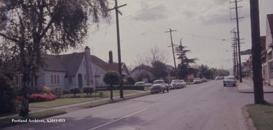 City of Portland Archives, Oregon, NE Fremont Street looking west from NE 14th Avenue(ZC 4309) , 1963, A2011-013.