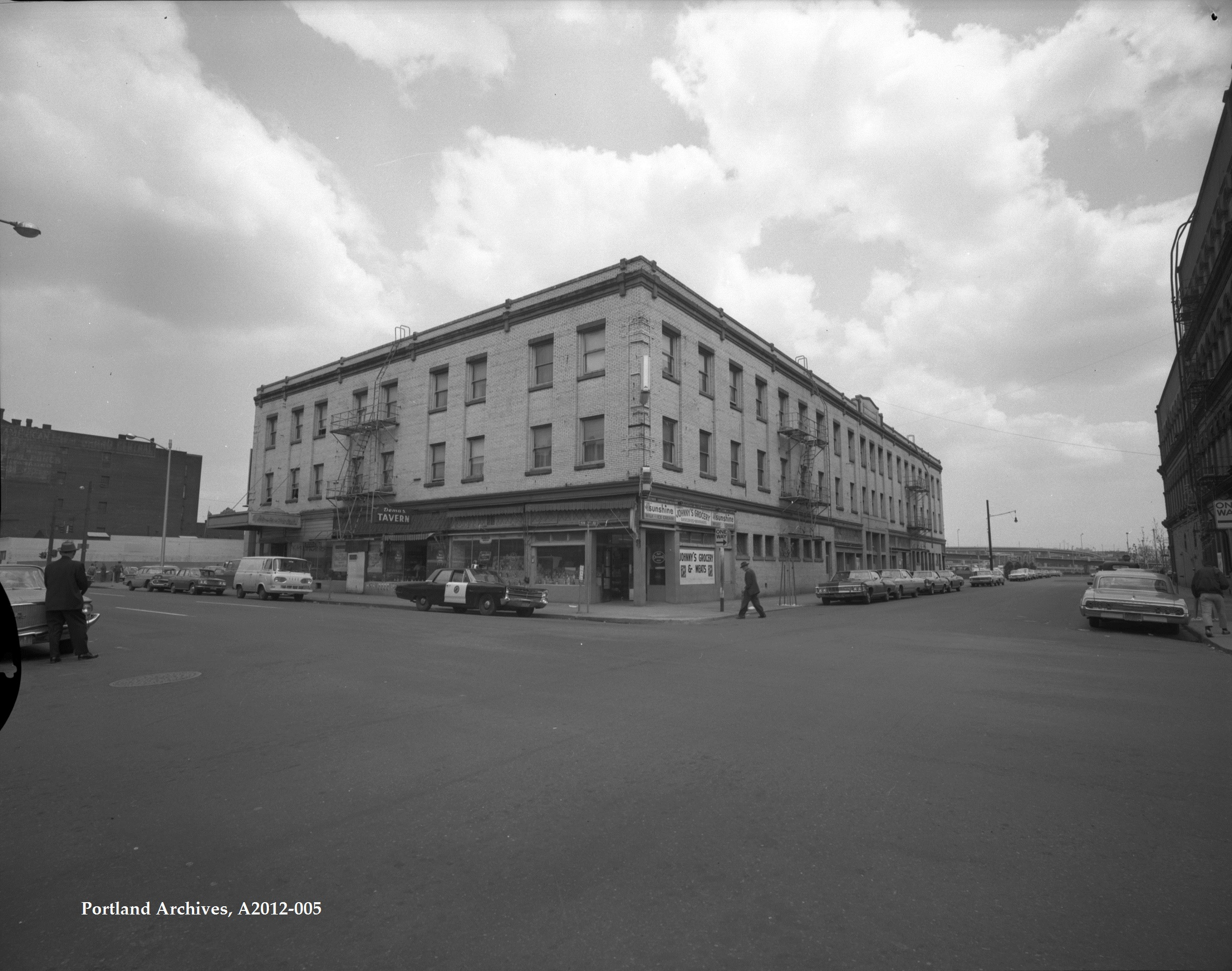 City of Portland Archives, Oregon, NW 3rd Avenue and NW Davis Street, A2012-005