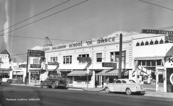 City of Portland Archives, Oregon, NE Sandy Boulevard between NE 40th Avenue and NE 41st Avenue, A2001-083, 1947.