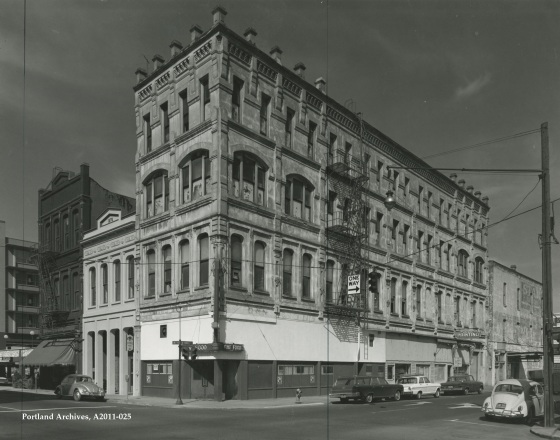 City of Portland Archives, Oregon, SW Yamhill Street and SW 1st Avenue, A2011-028 circa 1969.