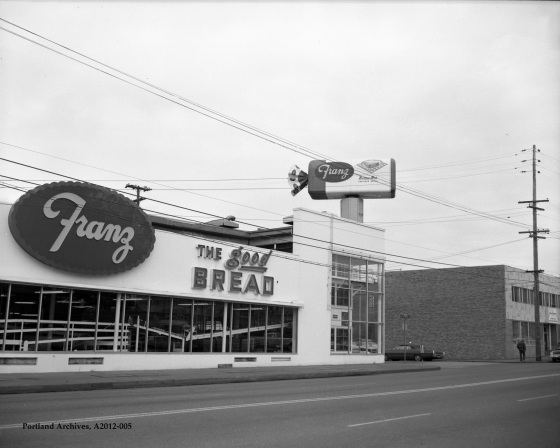 City of Portland Archives, Oregon, The Franz Bakery at NE 12th Avenue and NE Flanders Street, A2012-005, 1974.