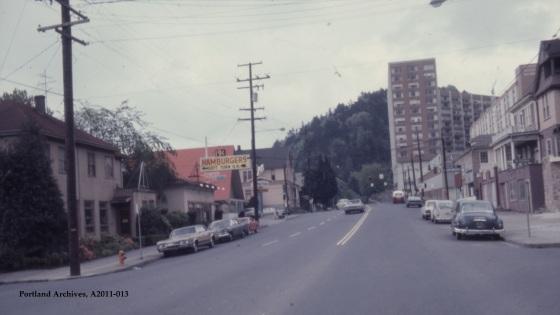 City of Portland Archives, Oregon, SW 6th Avenue near Sherman Street looking south (VZ 118-67), A2011-013, 1967.